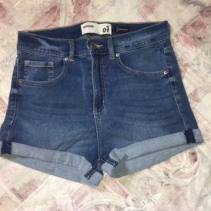 Garage High Rise Denim Shorts Size 7